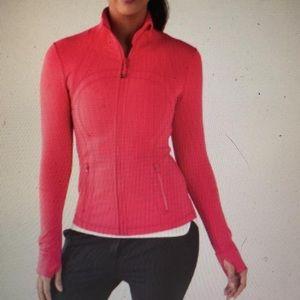 Lululemon Neon Coral Red Define Zip Up Jacket 4 ✨